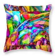 Welcome To My World Triptych Throw Pillow