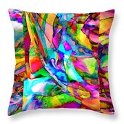 Welcome To My World Triptych Horizontal Throw Pillow