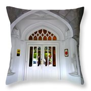Welcome To The Manor Throw Pillow