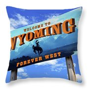 Welcome To The West Throw Pillow