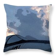 Welcome To Thunderstorm Cafe Throw Pillow