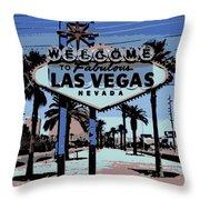 Welcome To Vegas  Throw Pillow