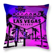 Welcome To Vegas No.2 Throw Pillow
