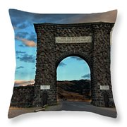 Welcome To Yellowstone Throw Pillow