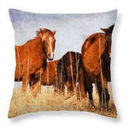 Welcoming Committee Throw Pillow
