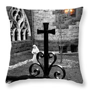 Welcoming Light Throw Pillow