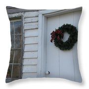 Welcoming Wreath  Throw Pillow