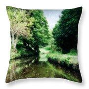 Welsh Canal Dream Throw Pillow
