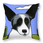 Welsh Cardigan Corgi Throw Pillow