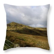 Welsh Landscape I Throw Pillow