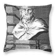 Wenceslaus (1361-1419) Throw Pillow