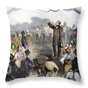 Wendell Phillips Throw Pillow by Granger