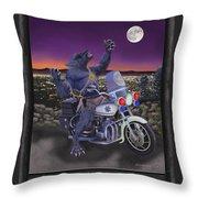 Werewolf Patrol Throw Pillow