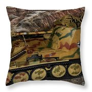 Wespe 105 Mm Self-propelled Gun Throw Pillow