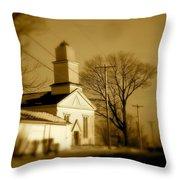 West Barre Church Throw Pillow