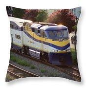 West Coast Express Throw Pillow