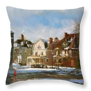 West Ferry Street Throw Pillow