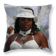 West Indian Parade Brooklyn Ny Throw Pillow