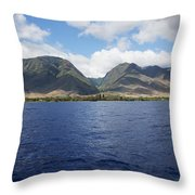 West Maui Mountains Throw Pillow