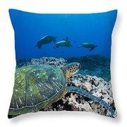 West Maui Sea Turtles Throw Pillow