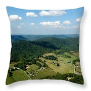 West Virginia Aerial  Throw Pillow
