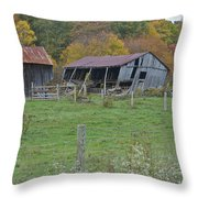 West Virginia Barn 3211 Throw Pillow