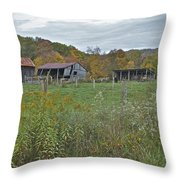 West Virginia Barn 3212 Throw Pillow