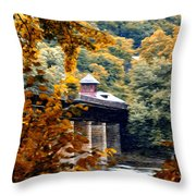 West Virginia Morn Throw Pillow