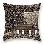 West Virginia Sepia Throw Pillow