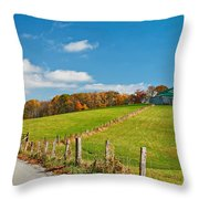 West Virginia Wandering 3 Throw Pillow