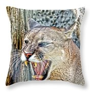 Western Cougar Throw Pillow