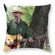 Western Guitar Throw Pillow