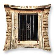 Western Jail House Door Throw Pillow