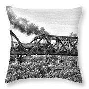 Western Maryland Railroad Throw Pillow