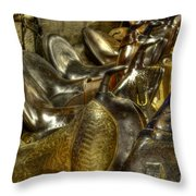 Western Saddles Throw Pillow