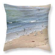 Western Sandpiper Throw Pillow