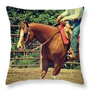 Western Sorrel Throw Pillow
