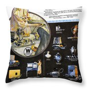 Westinghouse Ad, 1925 Throw Pillow by Granger