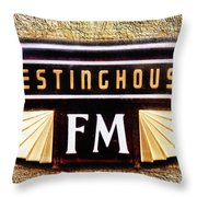 Westinghouse Fm Logo Throw Pillow