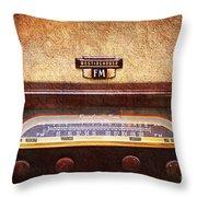 Westinghouse Fm Rainbow Tone Radio Throw Pillow