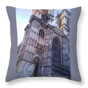 Westminster Abbey London Throw Pillow