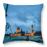 Westminster And The London Eye Throw Pillow