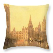 Westminster Houses Of Parliament Throw Pillow