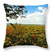 Weston Bend Fall Colors Throw Pillow
