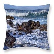 Wet Lava Rocks Throw Pillow