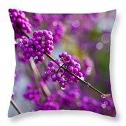 Wet Purple Throw Pillow