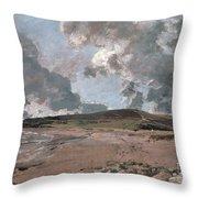 Weymouth Bay With Jordan Hill Throw Pillow