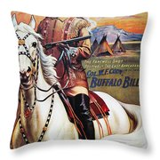 W.f. Cody Poster, 1910 Throw Pillow