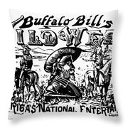 W.f. Cody Poster Throw Pillow