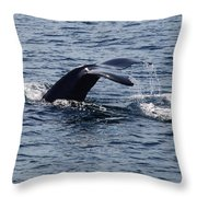 Whale Dive Throw Pillow